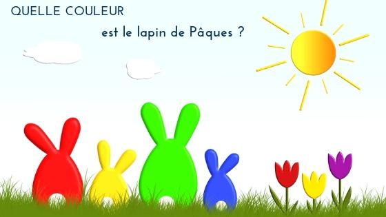De quelle couleur est le lapin de Pâques ?
